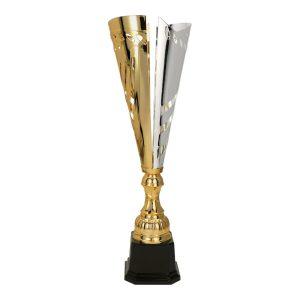 Złoto-srebrny puchar sportowy lub okazjonalny Cynka 3112