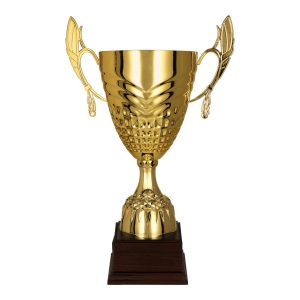 Metalowy złoty puchar sportowy Dabi 3121