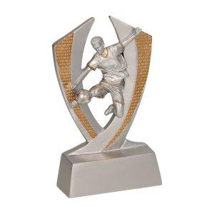 Statuetka srebrno-złota RE016 z motywem piłkarskim