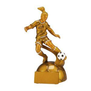 Figurka odlewana, piłka nożna kobieta RF8001/G
