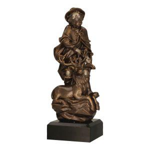 Brązowa statuetka odlewana RFST3011/BR - Święty Hubert, leśnictwo, myślistwo