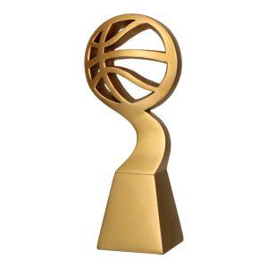 Złota statuetka odlewana RP5011 - Koszykówka