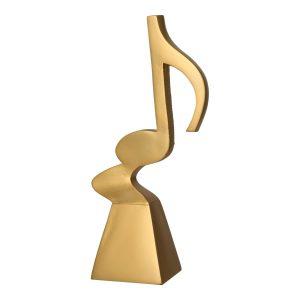 Złota statuetka odlewana RP5015 - Muzyka, nuta