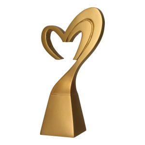 Złota statuetka odlewana RP5016 - Serce, miłość
