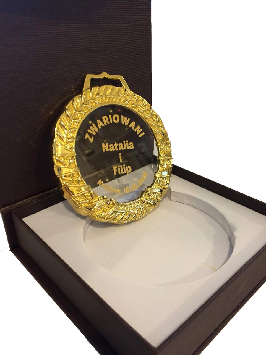 Medal szklany okazjonalny - Zwariowani