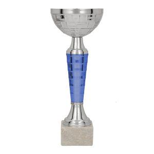 Srebrno-niebieski klasyczny puchar sportowy Vegas BL 9105