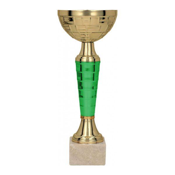 Złoto-zielony klasyczny puchar sportowy Vega GN 9107
