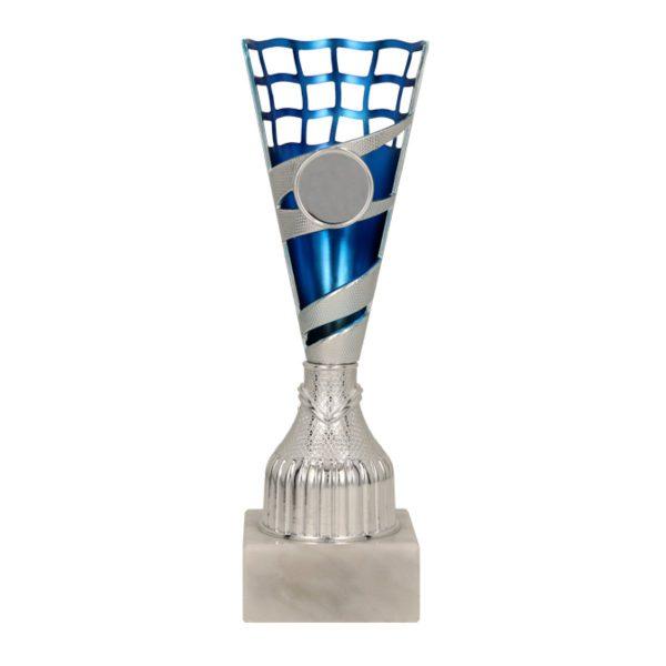 Plastikowy srebrno-niebieski puchar Taris BL 9113