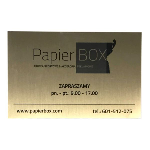 Tablice i tabliczki informacyjne aluminiowe, nadruk termosublimacyjny grawerton