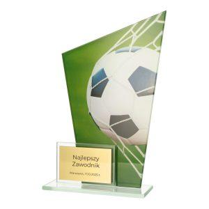 Statuetka piłkarska szklana DUAL DG1/SOC - piłka w bramce