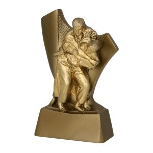 Statuetka RP4014 - figurka przedstawia walczących zawodników judo