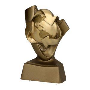 Złota statuetka RP4020 ekologiczna kula ziemska