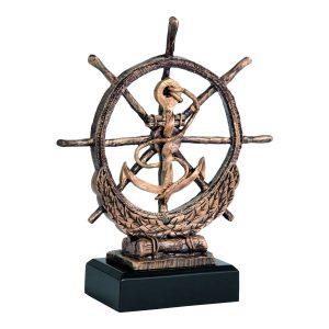 Statuetka żeglarska RTY1030/BR figurka ster i kotwica