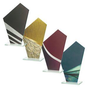 Statuetki szklane Q-GRAW - cztery kolory